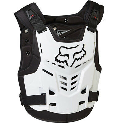 Fox Racing NEW Mx ProFrame LC White Chest Protector Guard Motocross Body Armour