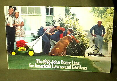 1978 Brochure The John Deere Line for America's Lawns and Gardens