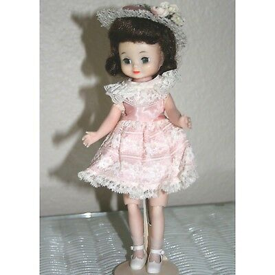 "Tiny 8""Betsy McCall Brunette Minty n Original Box;Crispy Mint '60 Birthday Party"