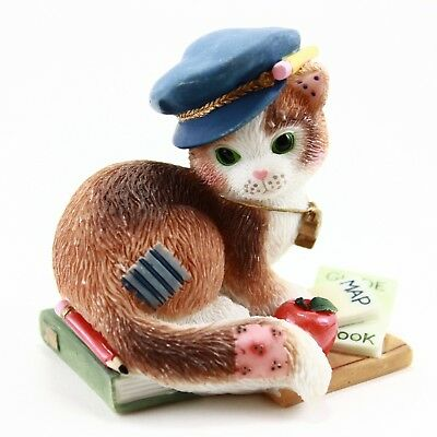 Calico Kittens Thanks for Guiding Us Towards Our Goals Cat Figurine Map Book Hat
