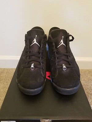 4f63c113e956 Nike Air Jordan 6 VI Retro Low Chrome Black Silver 304401-003 VNDS Mens 11.5