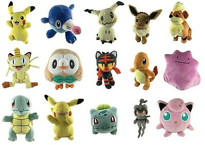 Official Pokemon Plush - Soft Toys -  Pikachu, Charmander, Squirtle, Eevee
