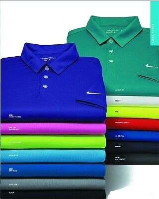AUTHENTIC Nike Golf Dri-Fit Dri Fit Dry Fit Vertical Polo Shirt