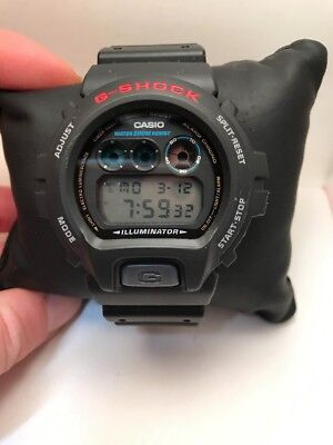 CASIO DW6900-1V Mens Classic GSHOCK Black Resin Digital Chrono Sport Watch-HB