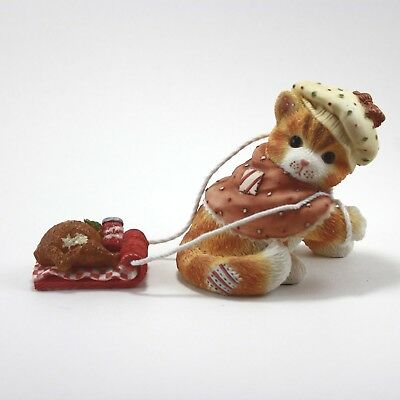 Calico Kittens Friends Are a Feast Worth Sharing Cat Figurine Pulling Turkey