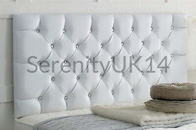 """Faux Leather Chesterfield l Headboard Bedhead  Height 26"""" / 8 Colours"""