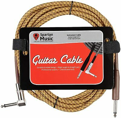 Electric / Bass / Instrument Guitar Lead 3m Meter 10ft Cable Jack Right Angle