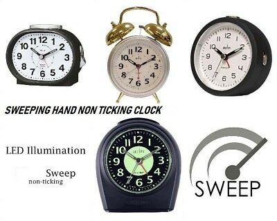 Acctim Non Ticking Sweep Alarm Clocks With Snooze & Light And Other Models