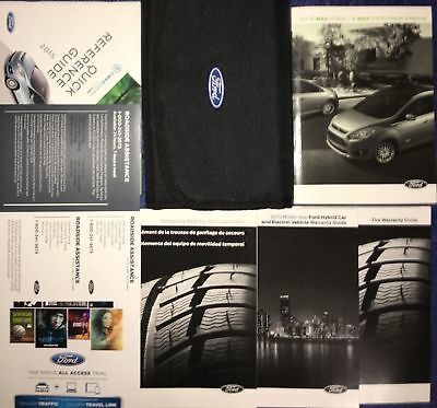 2015 Ford C-Max Hybrid Energi Owners Manual Set With Case + Free Shipping