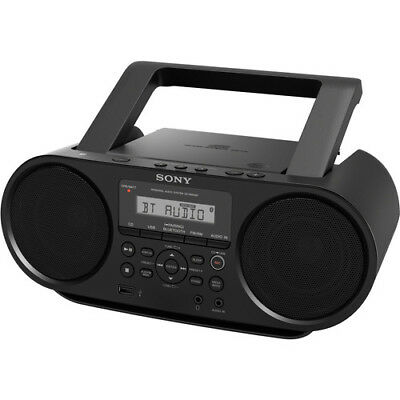 Sony Mega-Bass Portable Stereo Cd Player Boombox Am/fm Radio Bluetooth Zsrs60Bt