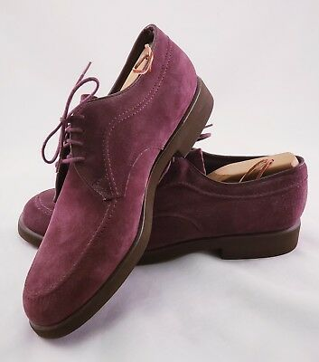 Classic Vintage Hush Puppies Mens Purple Suede Size 11M USA Lace Up Formal Shoes