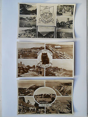 Group of Three Vintage Postcards Isle Of Wight Family History NEWPORT COOK