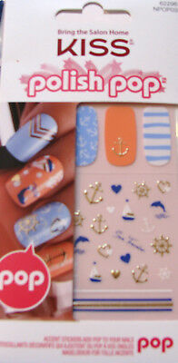 Kiss Polish Pop Nail Stickers / Decals - Nautical - NPOP03 - Main Street