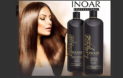 2 Liter Inoar Moroccan Brazilian Keratin Treatment Dry Hair Straightening+1 Box