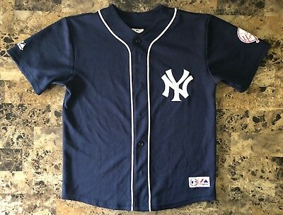online retailer 18074 a29bd New York Yankees Mariano Rivera #42 Navy Blue Button Down Jersey Youth Sz  18-20