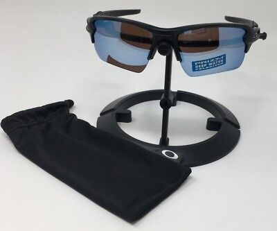 8025707f58c Oakley FLAK 2.0 Matte Black Prizm DEEP Water Polarized OO9188-58 Sunglasses