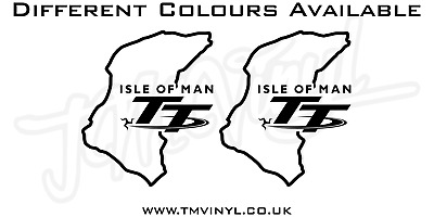 2 X Isle Of Man Tt Race Track Stickers / Decals - Different Colours Available