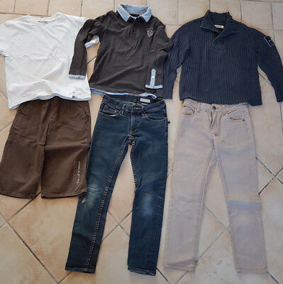 Lot garçon 8 ans  - jean toile  slim pull teddy smith H&M Okaidi