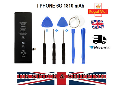 100% REPLACEMENT BATTERY FOR Apple IPHONE 6 6G 1810mAh With Free TOOLS UK STOCK