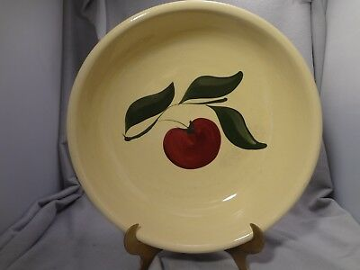 "Watt Apple Pattern 13"" Spaghetti Bowl Three Leaf Design Usa #39"
