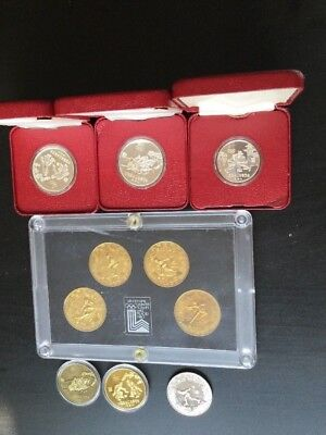 1980 China Olympic Coin Silver and Brass Rare Coin Set- All 10 Coins!
