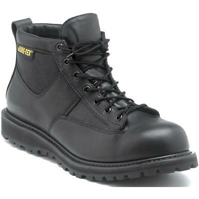 Rocky Mens Black Leather Goretex Work Northern Ops Chukka Boots