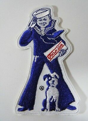 "CRACKER JACK'S ""Sailor Jack and Bingo"" Embroidered Iron-On Patch - 3.5"""