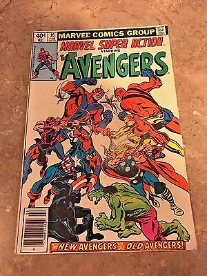 Marvel Super Action starring The Avengers # 16 (Feb 1989 Marvel) Hawkeye Goliath
