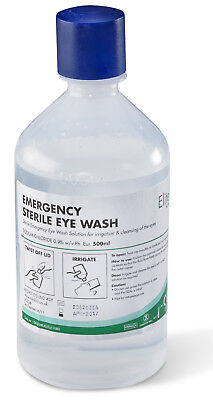 10x 500ml STERILE SALINE Eye Wound Wash Solution Bottle First Aid Eyewash