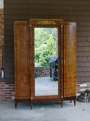 Antique French Louis XVI Armoire Wardrobe 3 Doors