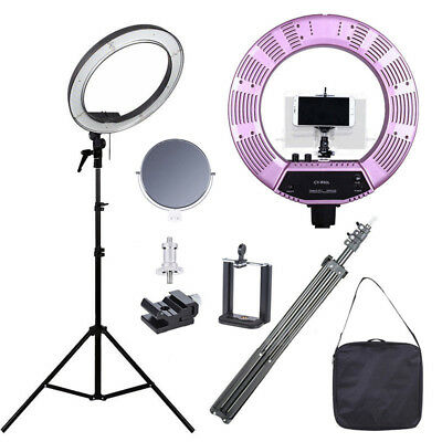 "50W 18"" Studio Photo Video Ring Light Dimmable Lamp Kit for Makeup Camera Phone"