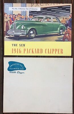 Vintage 1946 PACKARD Clipper Auto Dealership Car Catalog With Envelope EXCELLENT