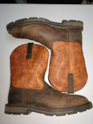 08ff446ee67 WOLVERINE CABOR WELLINGTON Mens Sz 10.5 EW Brown Leather Work Boots ...