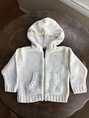 Burberry baby front zip hoodie sweater size 18mth
