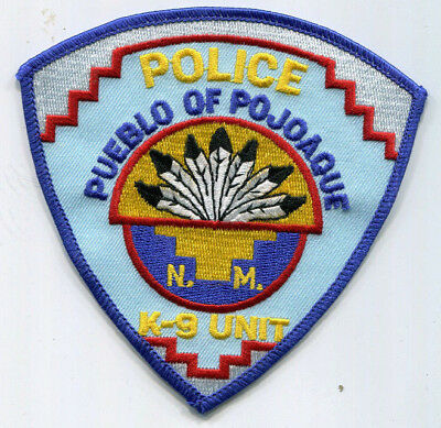 Pueblo of Pojoaque New Mexico Tribal Police K-9 Unit Patch // FREE US SHIPPING!