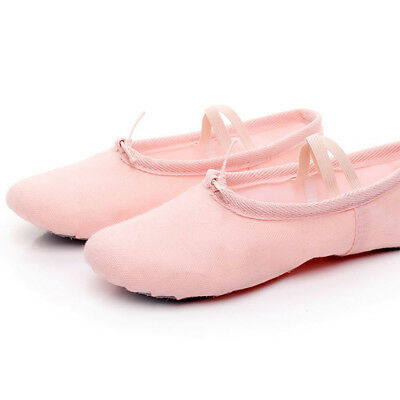 Women Child Girl Soft Canvas Ballet Dance Shoes Gymnastics Practice Ballet Shoes