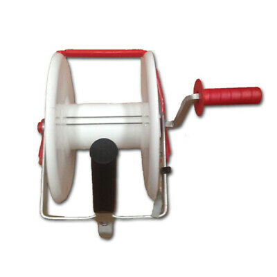 Geared Wind Up Electric Fencing Fence Reel For Poly Tape & Wire Strip Grazing
