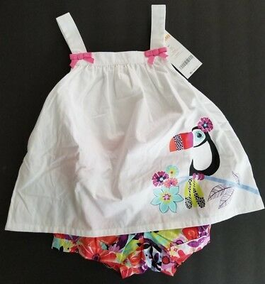 NWT Gymboree Girl 4T Jungle Brights Toucan Floral Top Tropical Floral Shorts Set