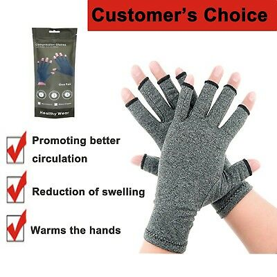 Arthritis Gloves Compression Pain Relief Cold Swollen Hand Stiffness Circulation