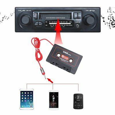 Car Music Audio Car Cassette Tape Adapter 3.5 MM For iPhone MP3 AUX Universal