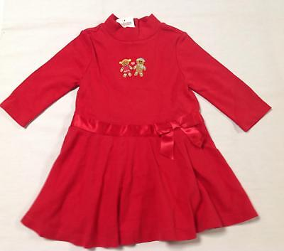NWT Gymboree SUGAR & SPICE red jersey knit gingerbread dress 6-12 months