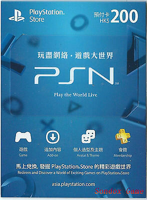 Playstation Network Prepaid Card Psn Hk$200 For Ps4 Ps3 Psv