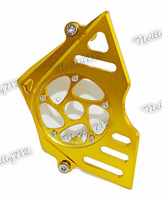 FRONT SPROCKET CHAIN Guard Cover Gold & Black For 2013-2015