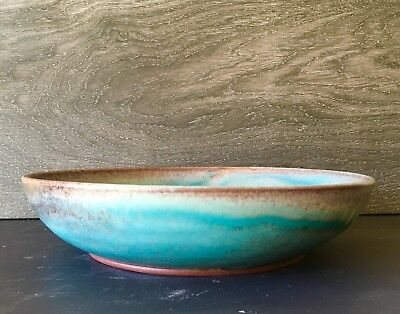 ceramics: hand crafted stoneware fruit/salad bowl - signed by maker