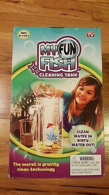 My Fun Fish Cleaning Tank - Self Cleaning Small Aquarium