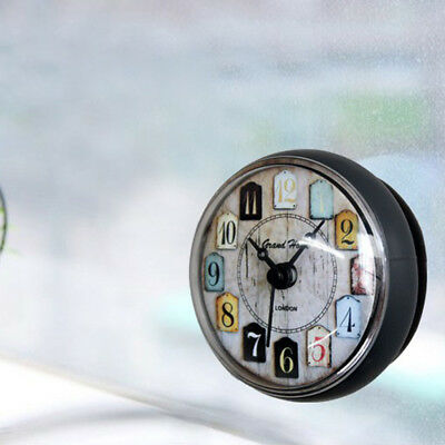 Small Wall Clock Watch for Bathroom Kitchen Silicone Clock Home Wall Time