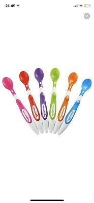 Munchkin Soft-Tip Infant Spoon, 6 Count.