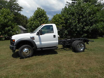 2008 FORD F550 SUPER DUTY 4X4 STRAIGHT DRIVE LOW MILES Cab & Chassis Trucks