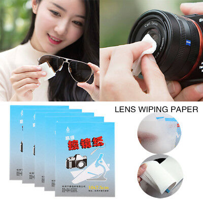 5 X 50 Sheets PC Eyeglasses SLR Camera Portable Thin Lens Cleaning Paper Wipes