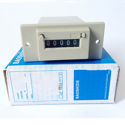 1PC Electromagnetic Counter 24V/110V/220V 5 Digit in Machinery Industry Lockable